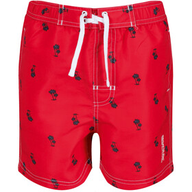 Regatta Skander II Costume a pantaloncino Bambino, true red palm print